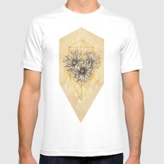 Cactus Flowers SMALL White Mens Fitted Tee