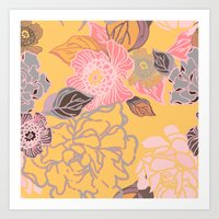 Jungle Blossoms Art Print