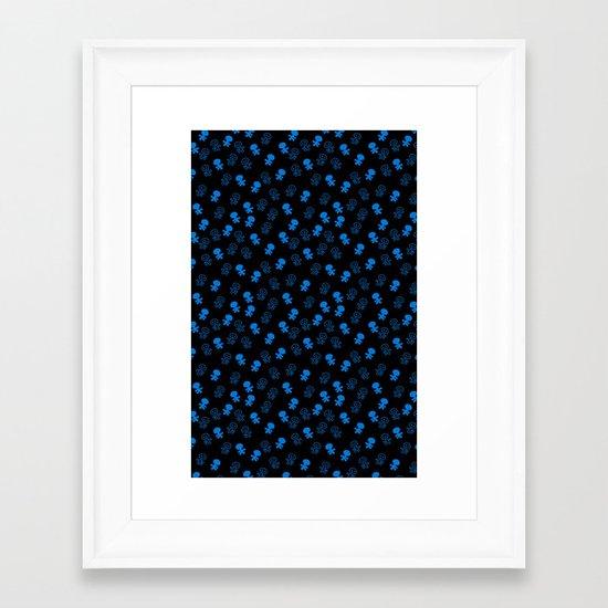 Aliens-Blue Framed Art Print
