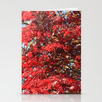 Fall Maple Trees Of Red … Stationery Cards