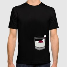 Hey, careful, man, there's a beverage here!  Mens Fitted Tee Black SMALL