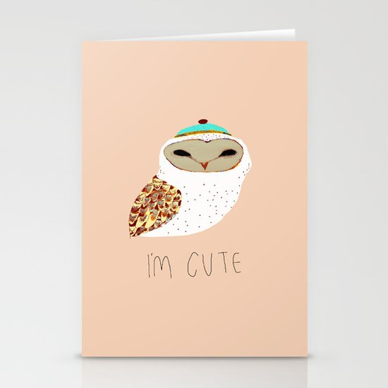 i'm cute owl illustration  Stationery Card