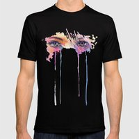 Rainbow Tears Mens Fitted Tee Black SMALL