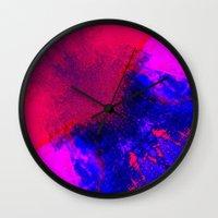 02-14-36 (Red Blue Glitc… Wall Clock