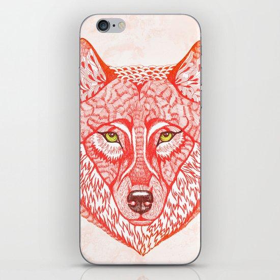 Red wolf iPhone & iPod Skin