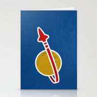 Blue Spaceman Stationery Cards