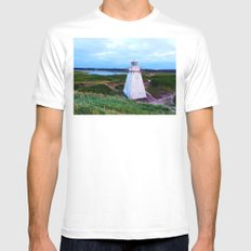 St-Peter's Harbour Lighthouse Mens Fitted Tee White SMALL