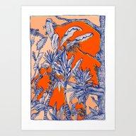 Art Print featuring Plants Again by Marcelo Romero