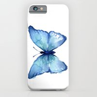 Blue Butterfly Watercolor iPhone 6 Slim Case