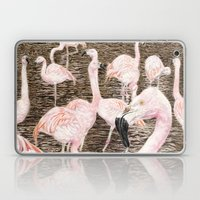 Pink Flamingos Laptop & iPad Skin