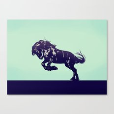 Dark Blue Stallion Canvas Print