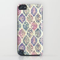 iPhone Cases featuring Patterned & Painted Floral Ogee in Vintage Tones by micklyn
