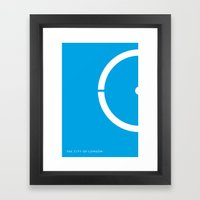 Iconic London: London Eye Framed Art Print