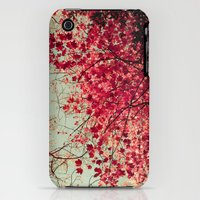 iPhone 3Gs & iPhone 3G Cases featuring Autumn Inkblot by Olivia Joy StClaire