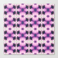 Pink And Purple Valentin… Canvas Print