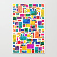 Polygonal Map Canvas Print