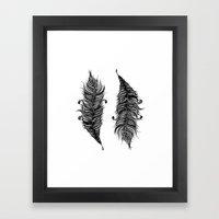 Feathers Framed Art Print