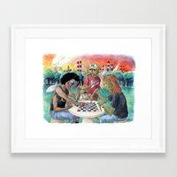 Mutant League Checkers Framed Art Print