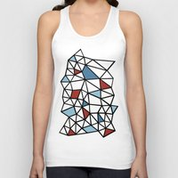 Segment Red and Blue Unisex Tank Top