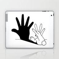 Rabbit Hand Shadow Laptop & iPad Skin