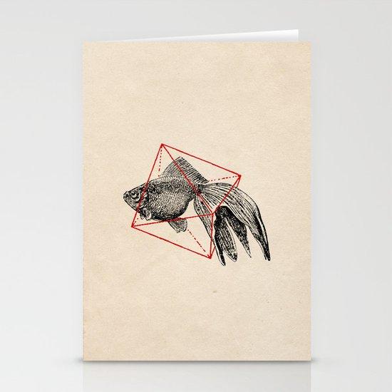 Fish In Geometrics III Stationery Card