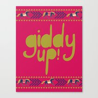 Giddy Up Canvas Print