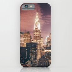 New York City - Chrysler Building Lights iPhone 6 Slim Case