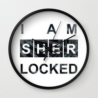 SHERLOCK I Am Sherlocked… Wall Clock