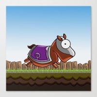 Joust It (Horsey) Canvas Print