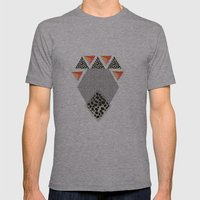 LEOPARD DIAMOND Mens Fitted Tee Athletic Grey SMALL