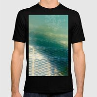 Submerged Mesh Steps Mens Fitted Tee Black SMALL