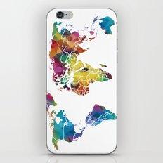 Geometric World Map iPhone & iPod Skin