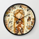The Queen of Pentacles Wall Clock