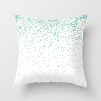Falling For Aqua Throw Pillow