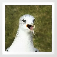 Bird shouting Art Print