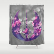 Floral Jedi Order Shower Curtain