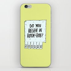 Believe In Rock & Roll iPhone & iPod Skin