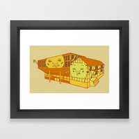 Old School And New Schoo… Framed Art Print