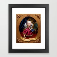 Annabelle White Framed Art Print