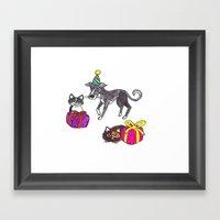 Pet Party Framed Art Print