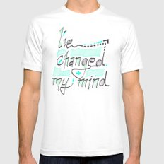 I've Changed My Mind White Mens Fitted Tee SMALL