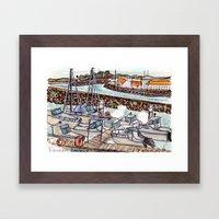 The Harbour 2, Figueira Da Foz, Portugal Framed Art Print