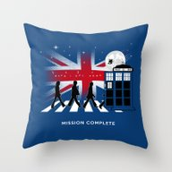 Doctor Who On Abbey Road… Throw Pillow