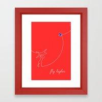 Fly Higher Framed Art Print