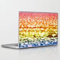 glitter Laptop & iPad Skins featuring Rainbow Glitter Sparkles by WhimsyRomance&Fun