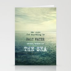 The cure for anything is salt water, sweat, tears, or the sea.    Dinesen Stationery Cards