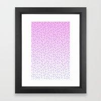 80's Pattern Gradient Framed Art Print