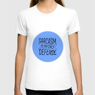 TEEN WOLF- SARCASM IS MY… Womens Fitted Tee White SMALL