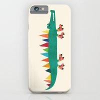 Crocodile on Roller Skates iPhone 6 Slim Case