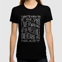I Want to Know You (Bethel) Womens Fitted Tee Black SMALL